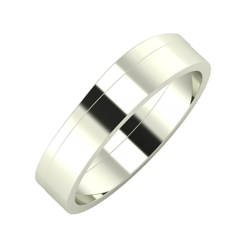 Adria - Adela 5mm 14 karátos fehér arany karikagyűrű