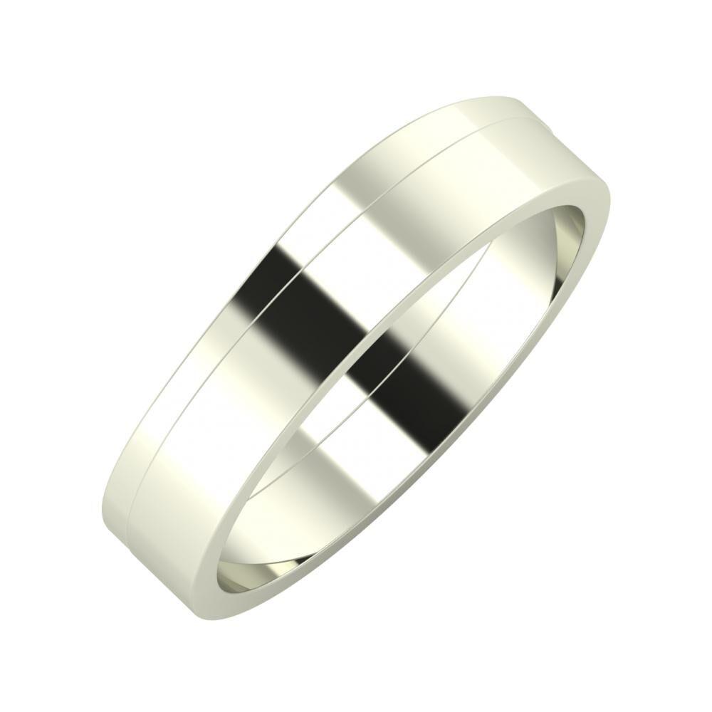 Adria - Adela 5mm 18 karátos fehér arany karikagyűrű
