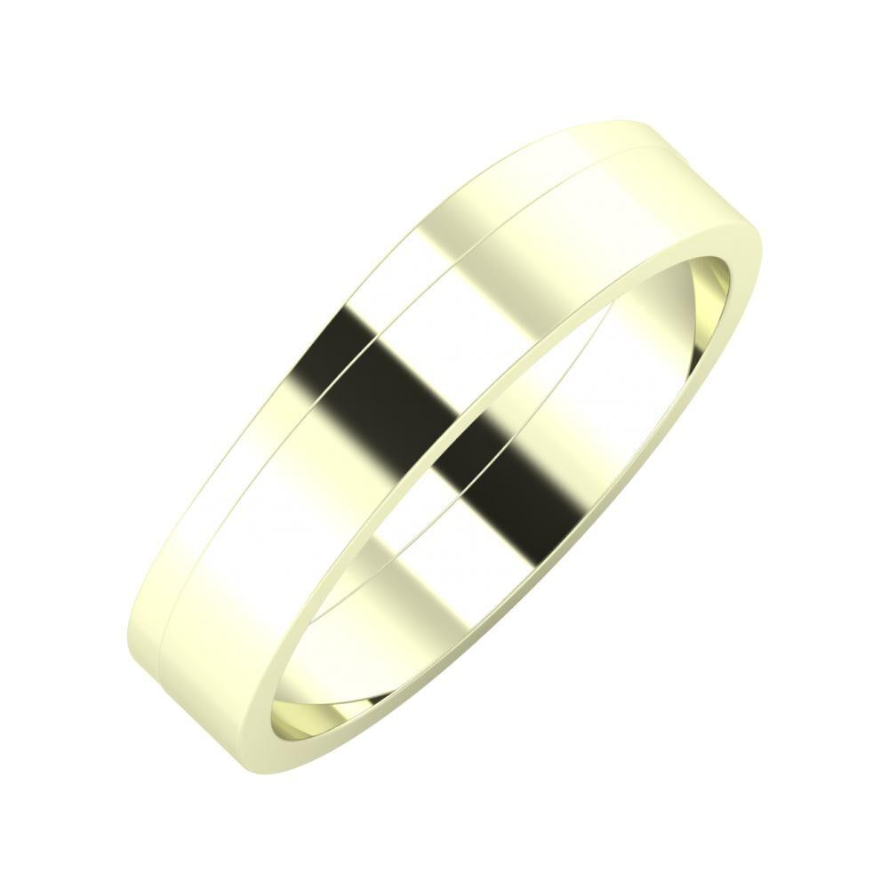 Adria - Adela 5mm 22 karátos fehér arany karikagyűrű
