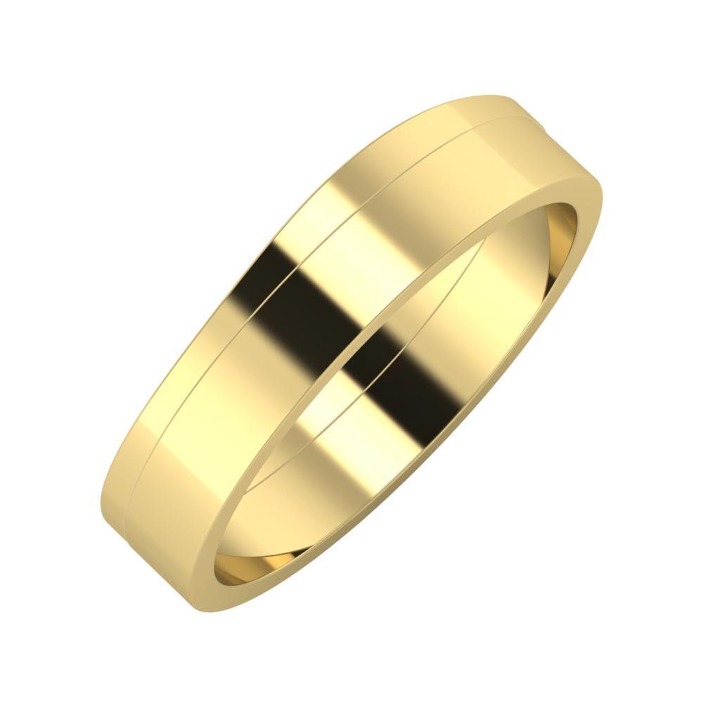 Adria - Adela 5mm 14 karátos sárga arany karikagyűrű