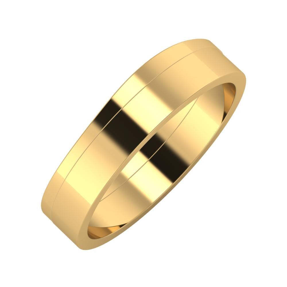 Adria - Adela 5mm 18 karátos sárga arany karikagyűrű