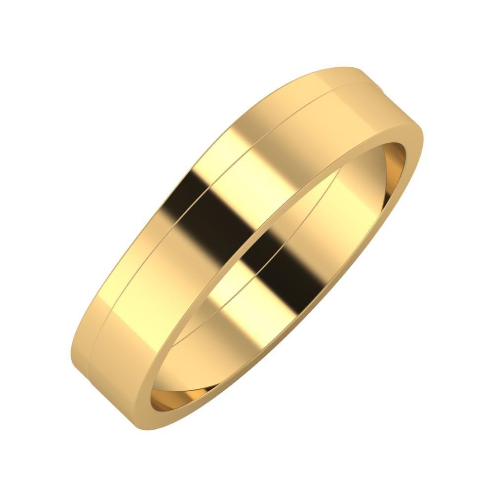 Adria - Adela 5mm 22 karátos sárga arany karikagyűrű
