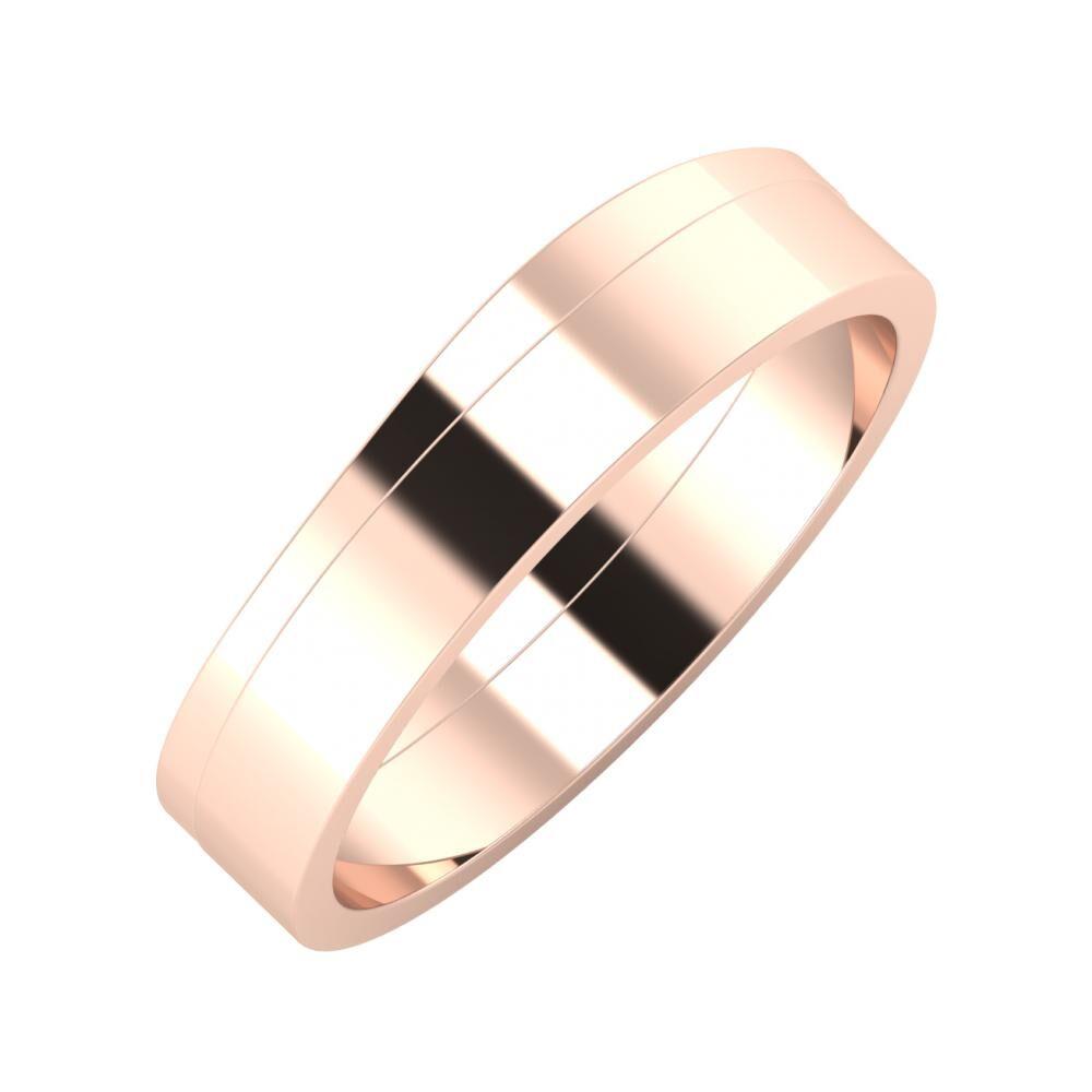 Adria - Adela 5mm 14 karátos rosé arany karikagyűrű