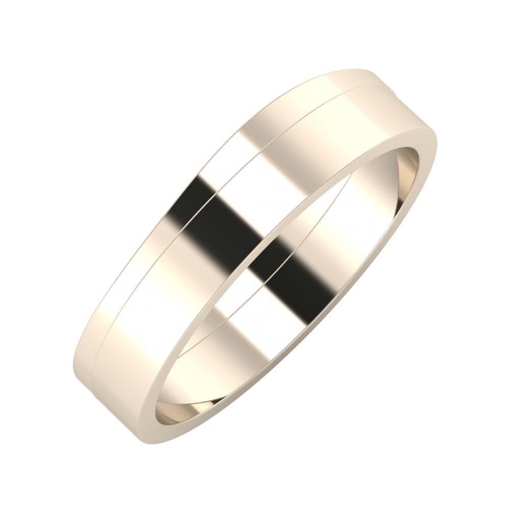 Adria - Adela 5mm 22 karátos rosé arany karikagyűrű
