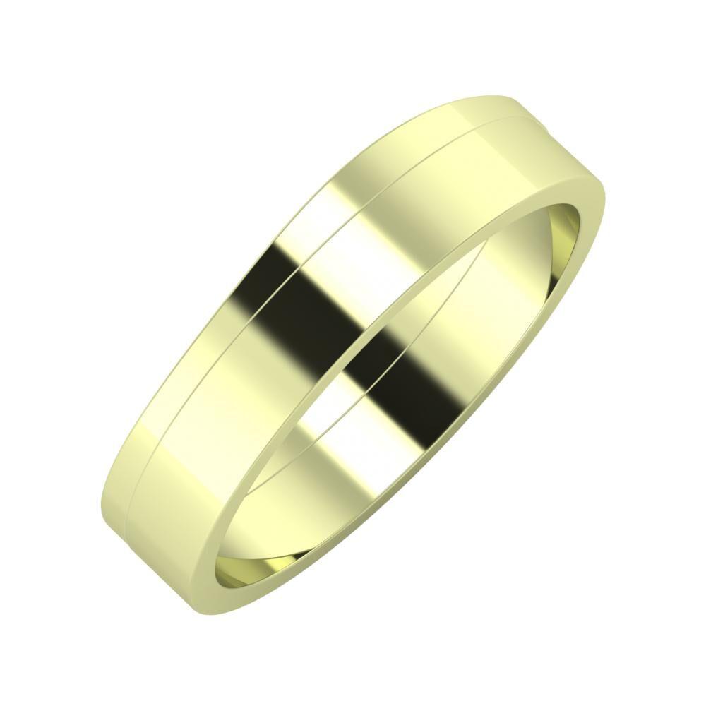 Adria - Adela 5mm 14 karátos zöld arany karikagyűrű