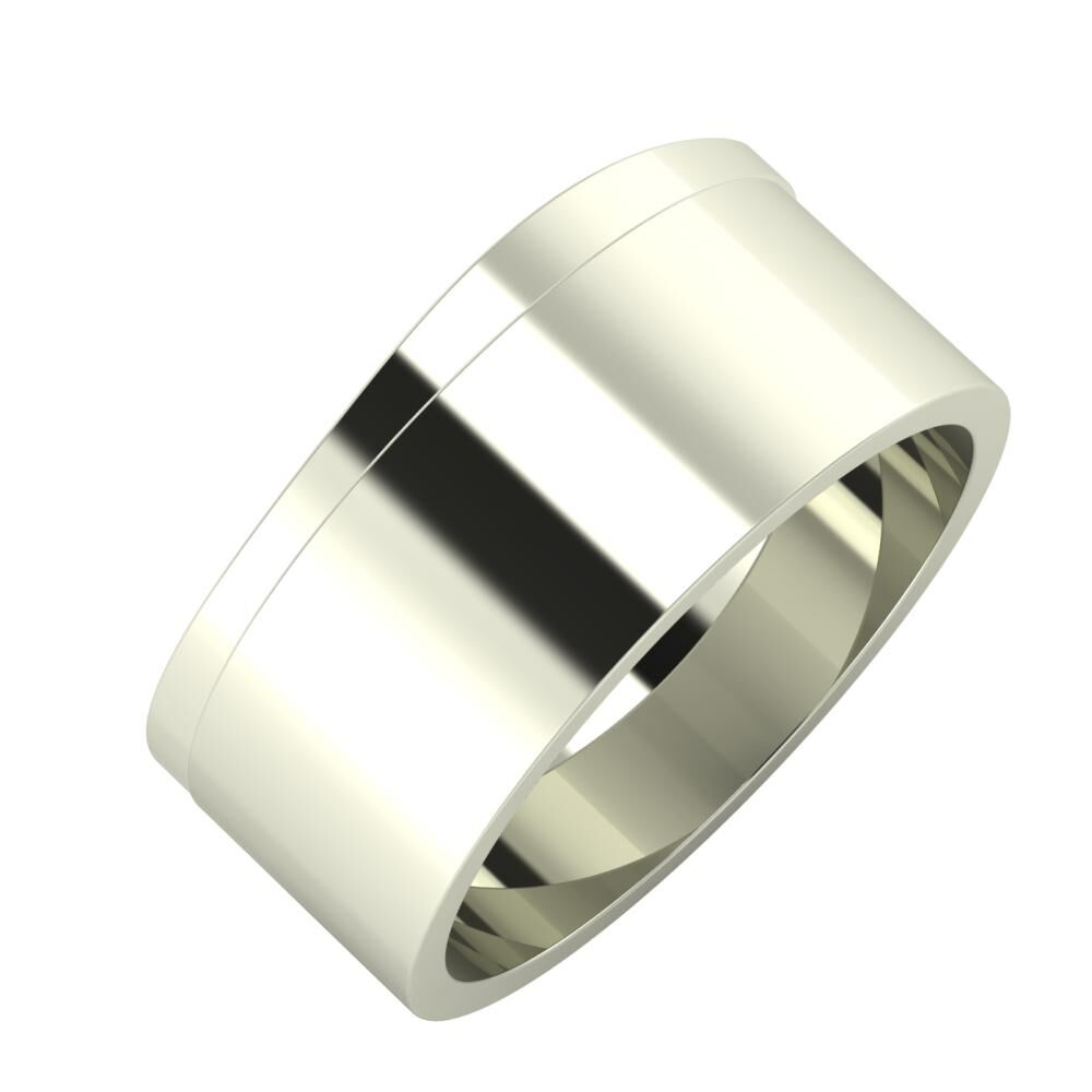 Adria - Adela 9mm 18 karátos fehér arany karikagyűrű