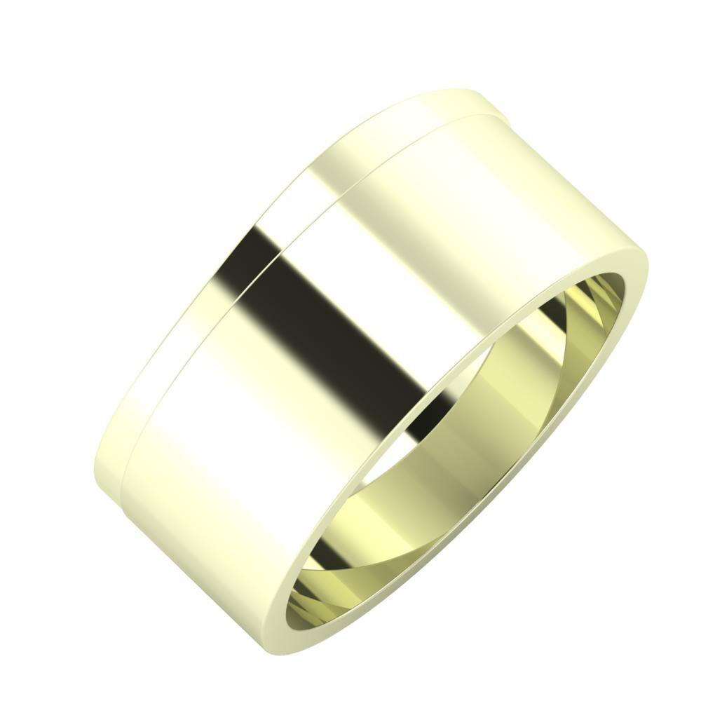 Adria - Adela 9mm 22 karátos fehér arany karikagyűrű