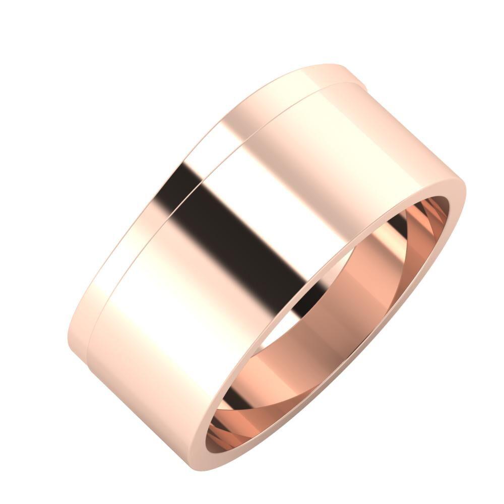 Adria - Adela 9mm 18 karátos rosé arany karikagyűrű