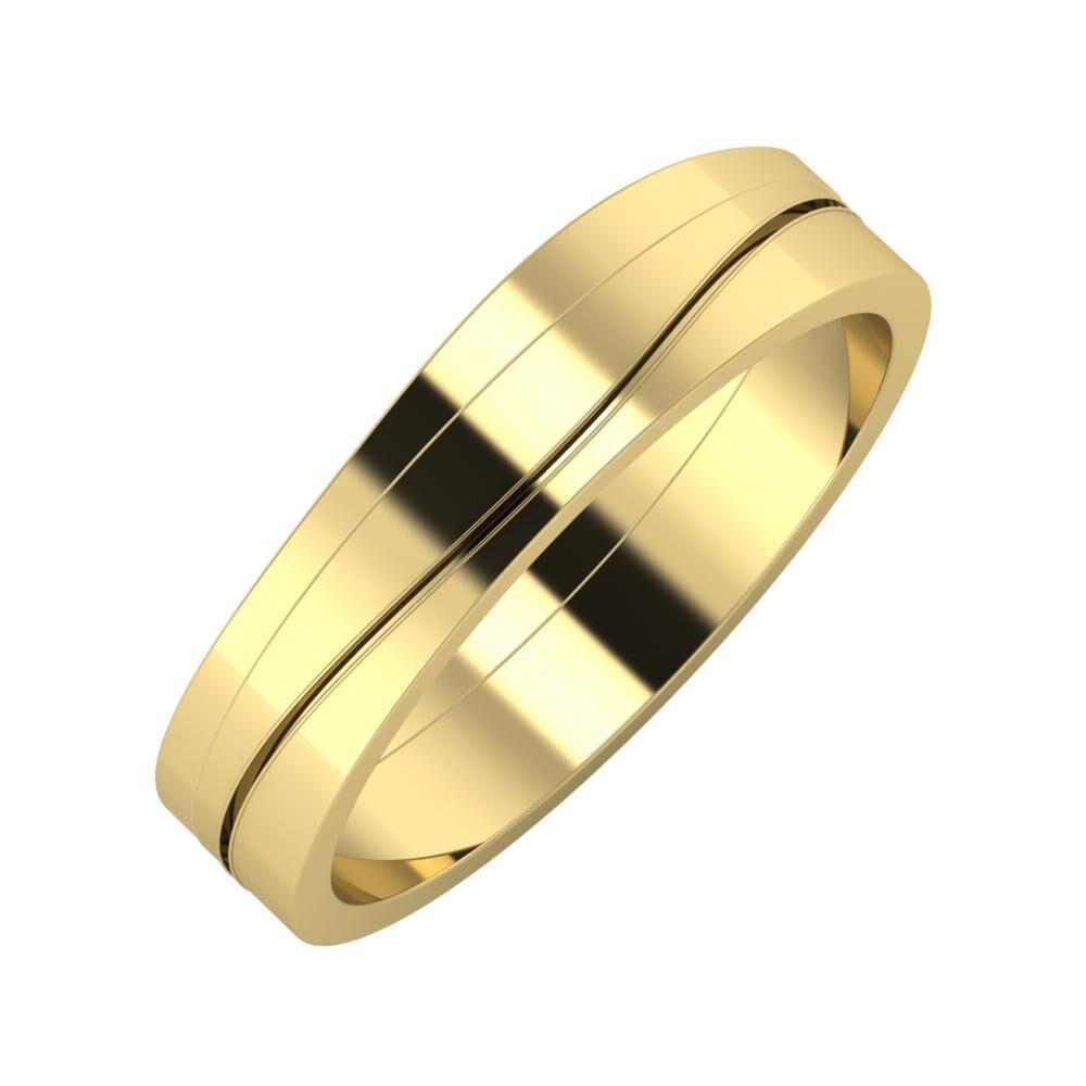 Adria - Adelinda 5mm 14 karátos sárga arany karikagyűrű