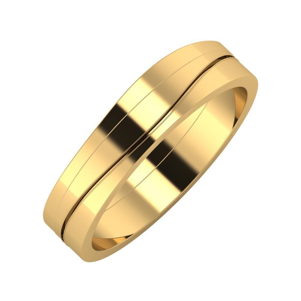 Adria - Adelinda 5mm 18 karátos sárga arany karikagyűrű