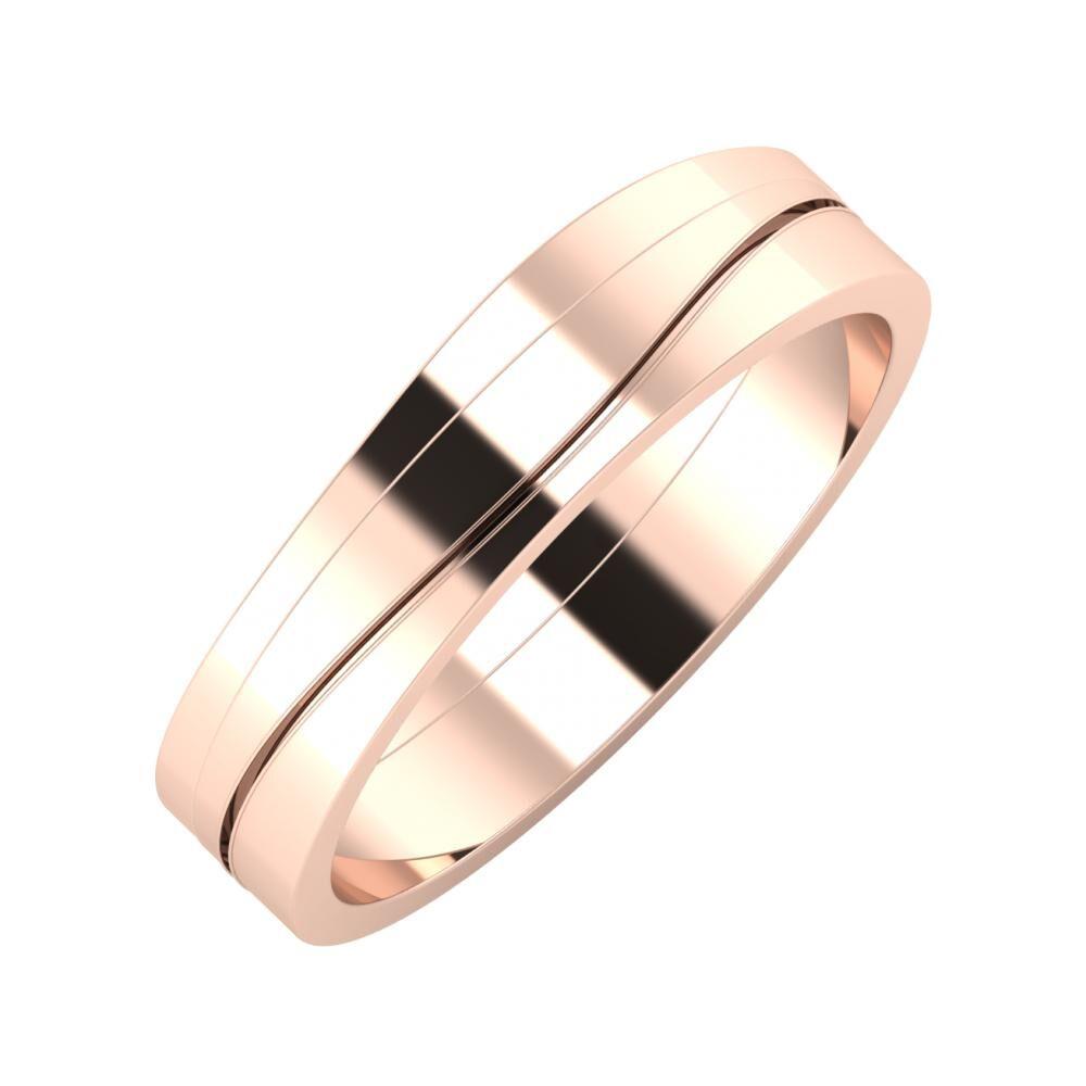 Adria - Adelinda 5mm 18 karátos rosé arany karikagyűrű