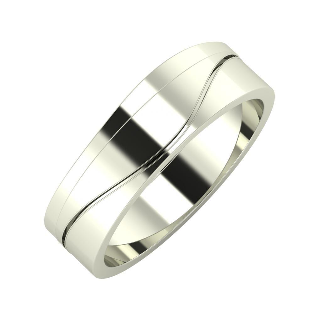 Adria - Adelinda 6mm 14 karátos fehér arany karikagyűrű