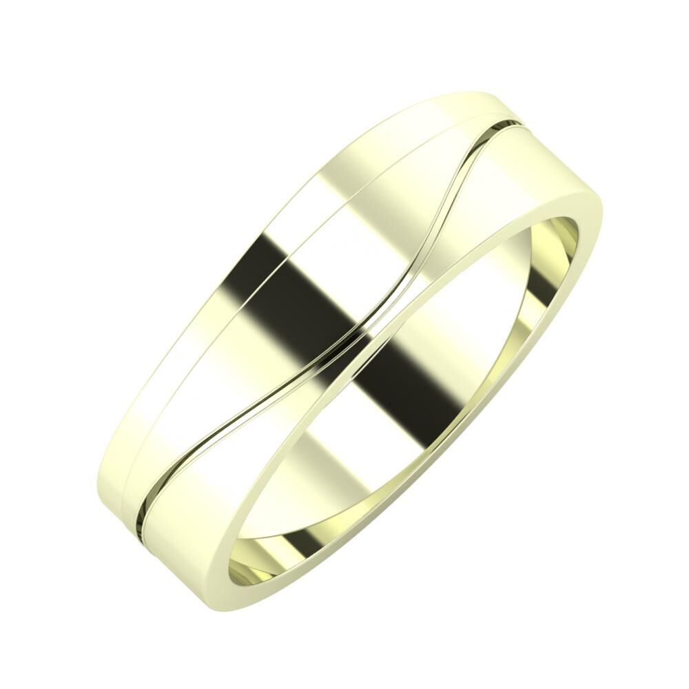 Adria - Adelinda 6mm 22 karátos fehér arany karikagyűrű