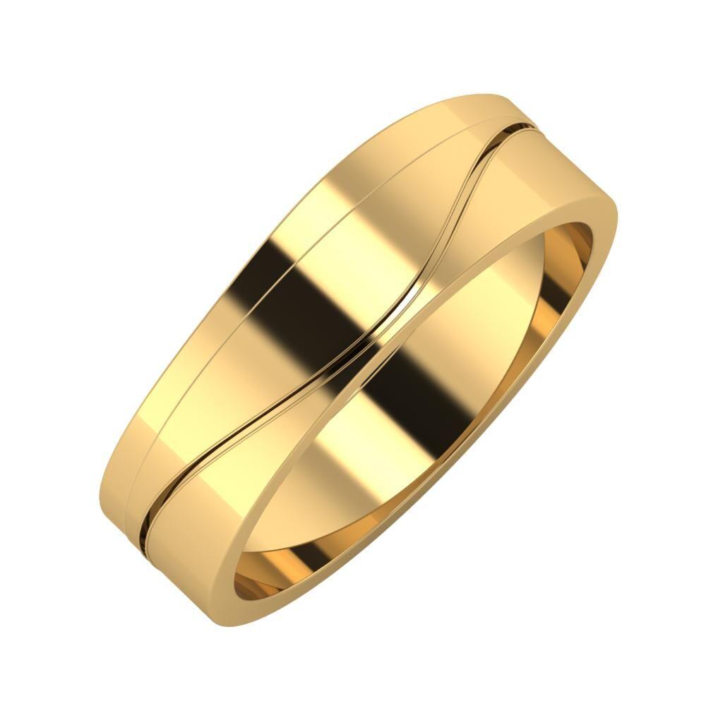 Adria - Adelinda 6mm 18 karátos sárga arany karikagyűrű
