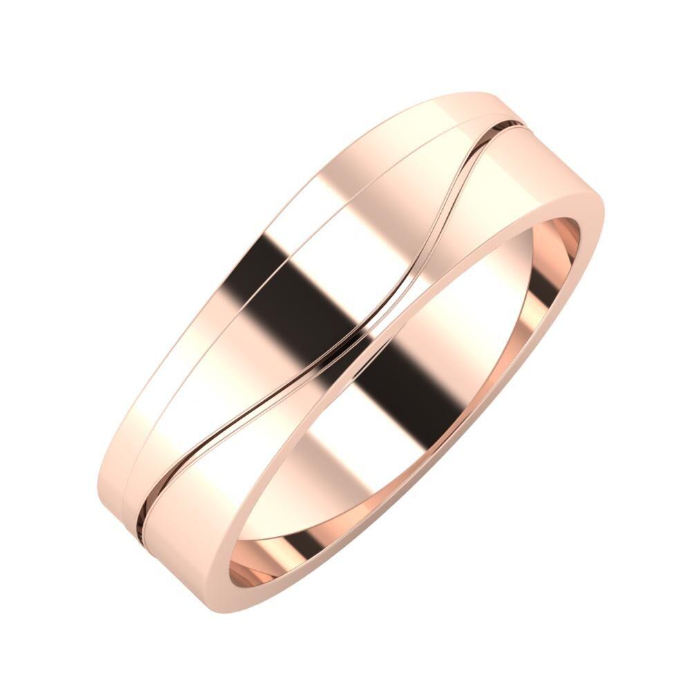 Adria - Adelinda 6mm 18 karátos rosé arany karikagyűrű