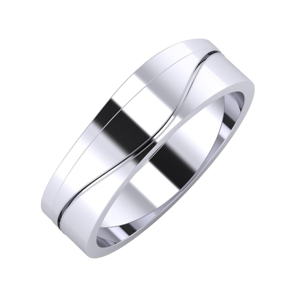 Adria - Adelinda 6mm platina karikagyűrű