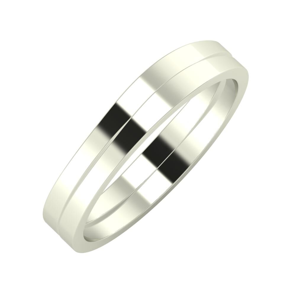 Adria - Adria 4mm 14 karátos fehér arany karikagyűrű