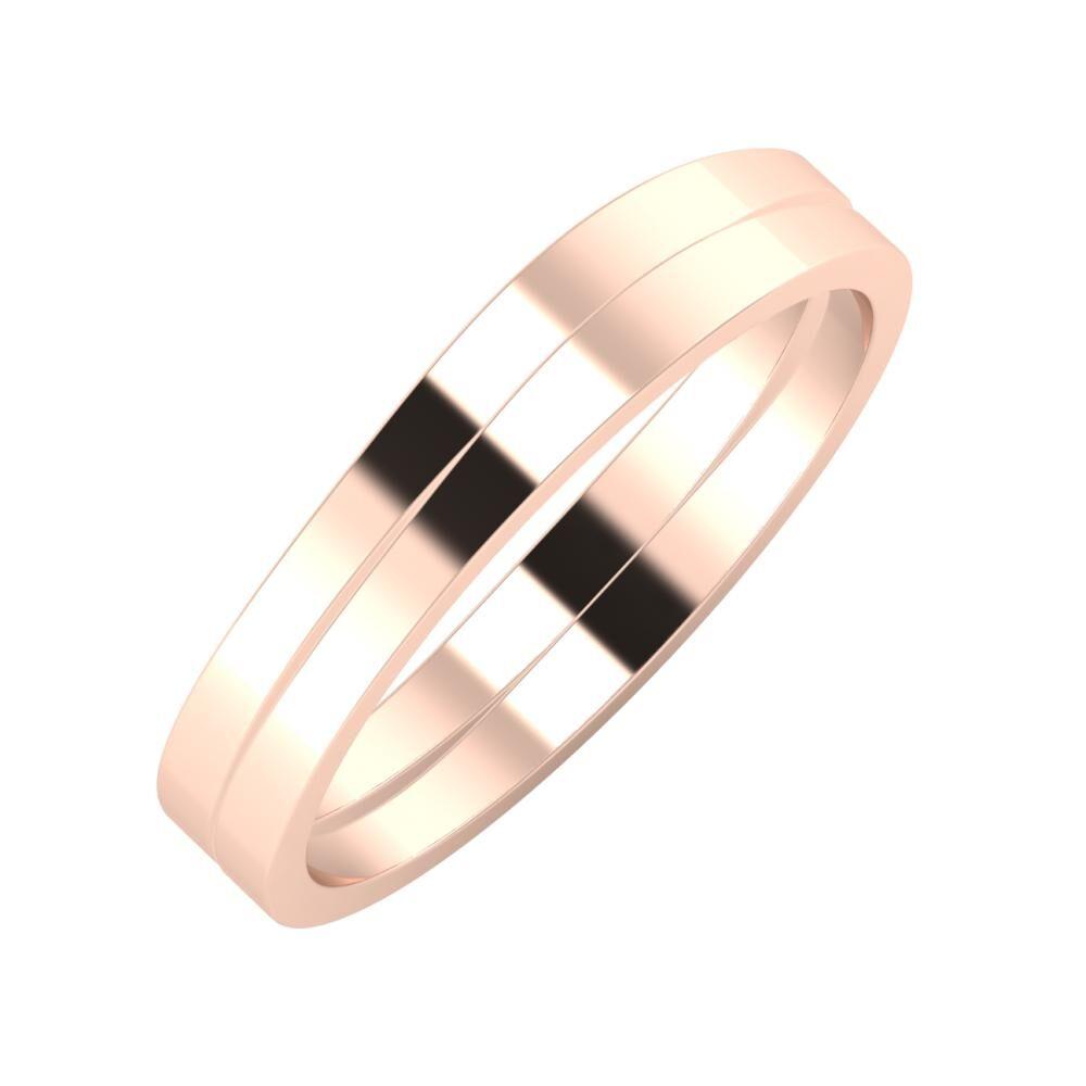 Adria - Adria 4mm 18 karátos rosé arany karikagyűrű