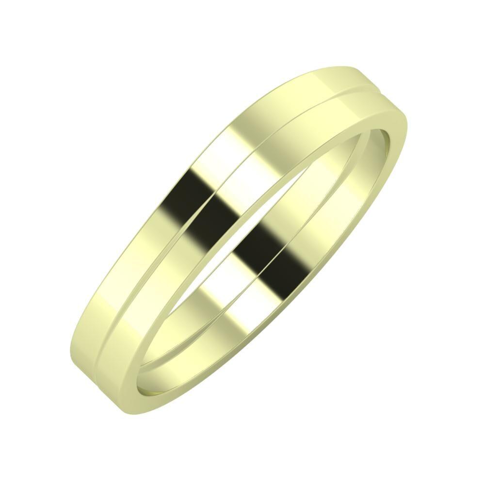 Adria - Adria 4mm 14 karátos zöld arany karikagyűrű