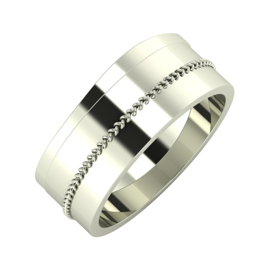 Adria - Áfonya 8mm 18 karátos fehér arany karikagyűrű