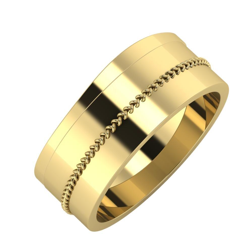 Adria - Áfonya 8mm 14 karátos sárga arany karikagyűrű