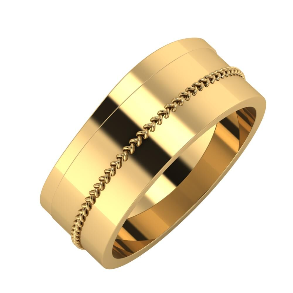 Adria - Áfonya 8mm 22 karátos sárga arany karikagyűrű