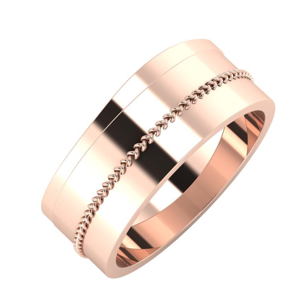 Adria - Áfonya 8mm 14 karátos rosé arany karikagyűrű