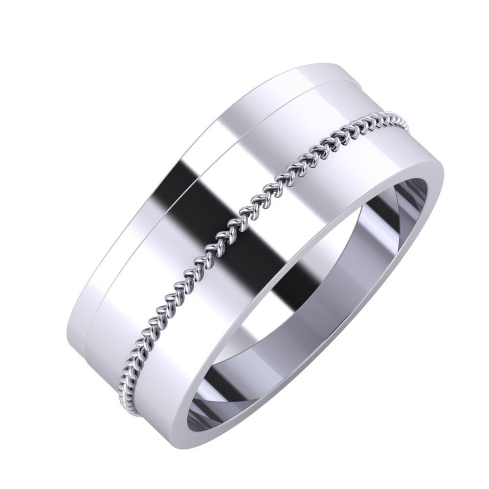 Adria - Áfonya 8mm platina karikagyűrű