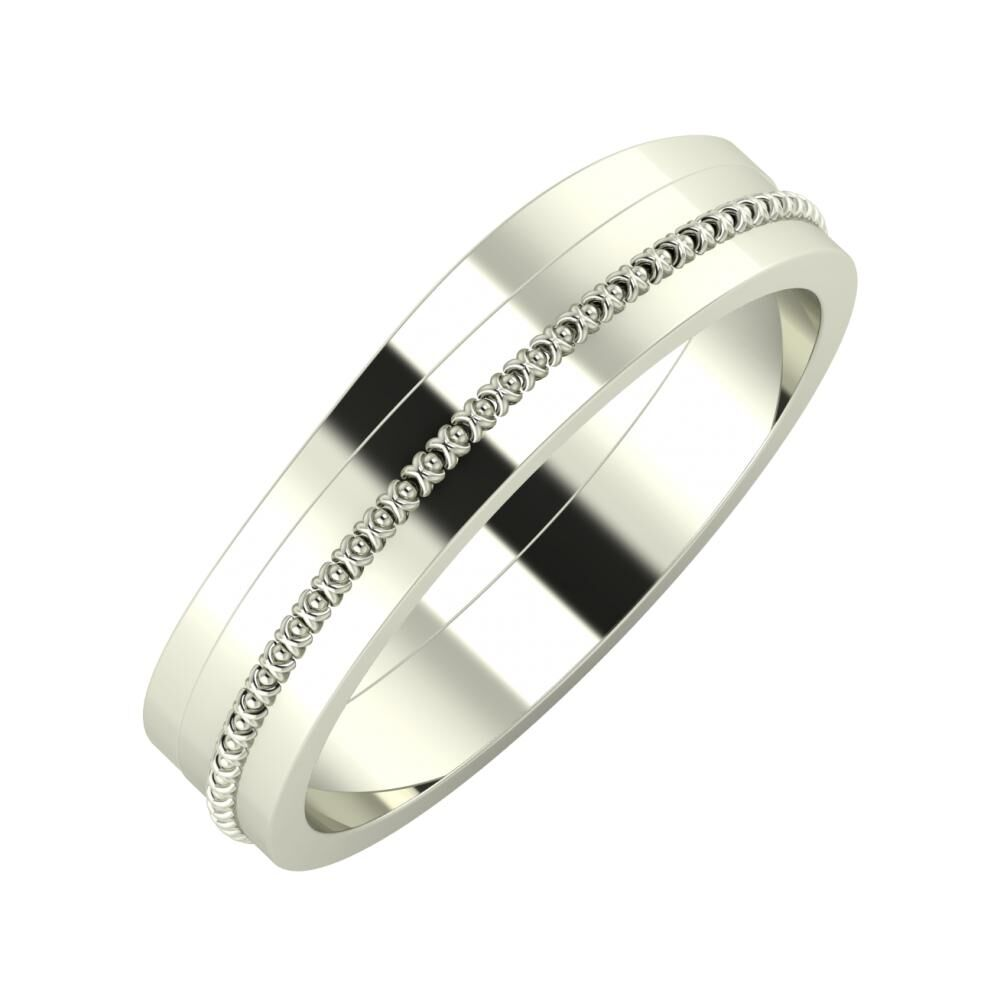 Adria - Afrodita 5mm 14 karátos fehér arany karikagyűrű
