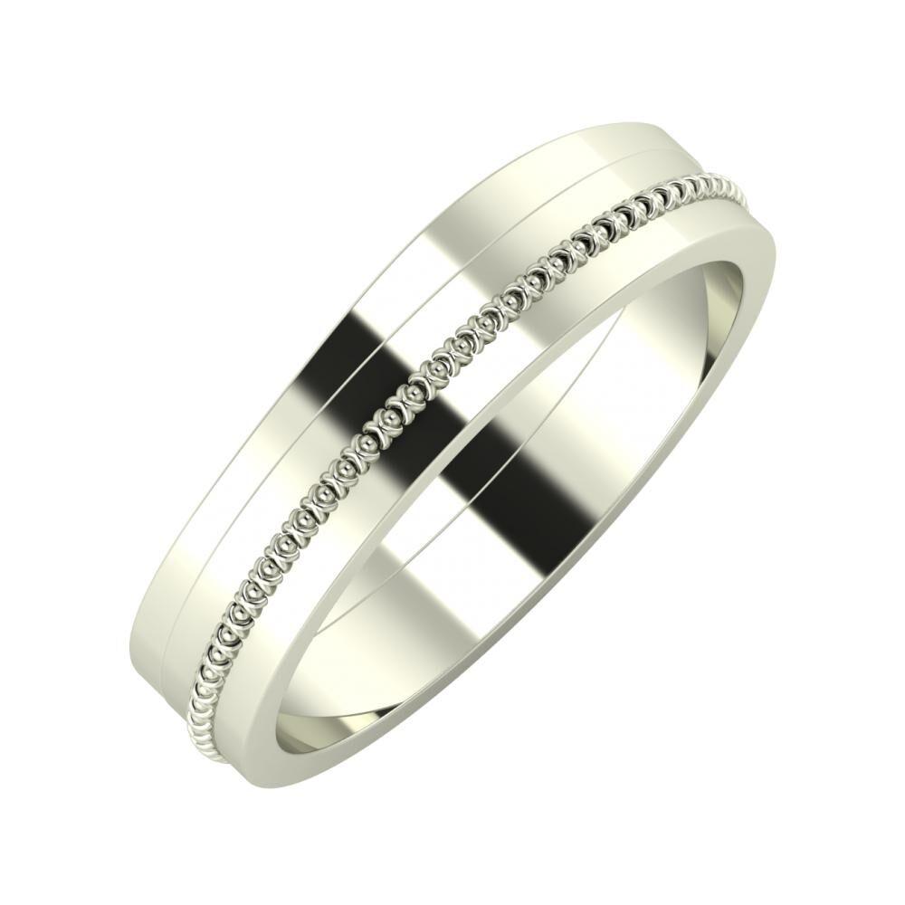 Adria - Afrodita 5mm 18 karátos fehér arany karikagyűrű