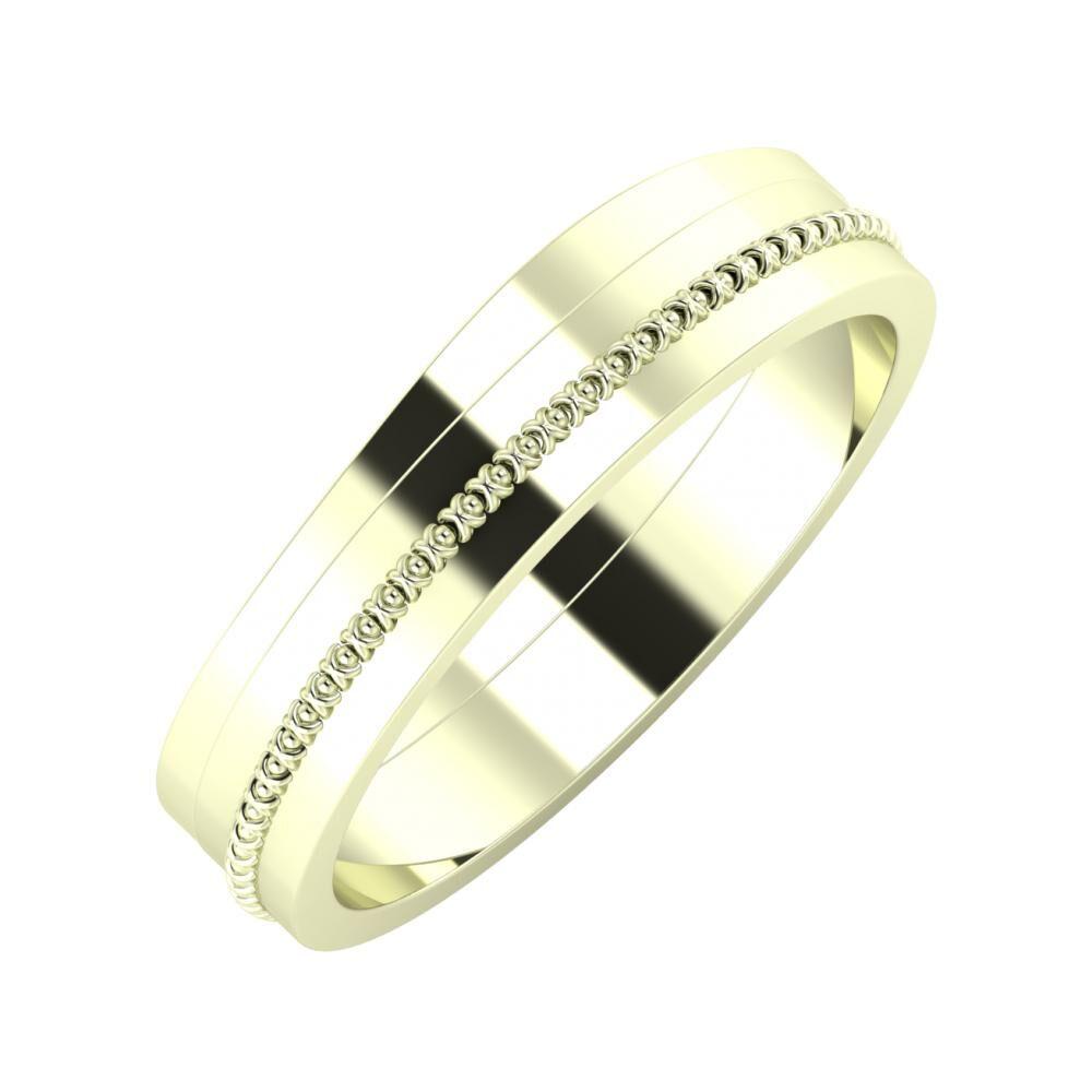 Adria - Afrodita 5mm 22 karátos fehér arany karikagyűrű