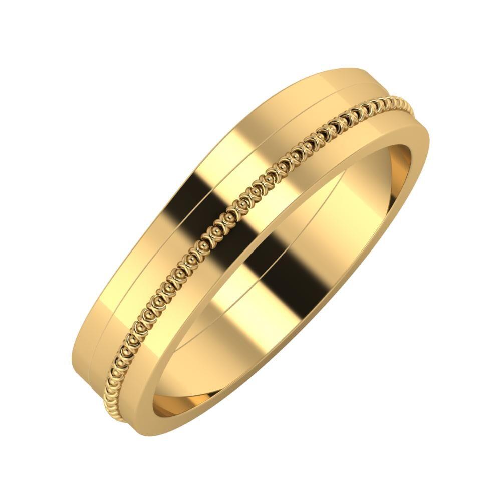 Adria - Afrodita 5mm 22 karátos sárga arany karikagyűrű