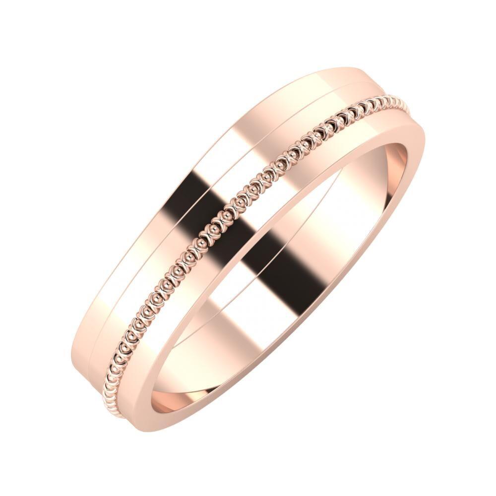 Adria - Afrodita 5mm 14 karátos rosé arany karikagyűrű