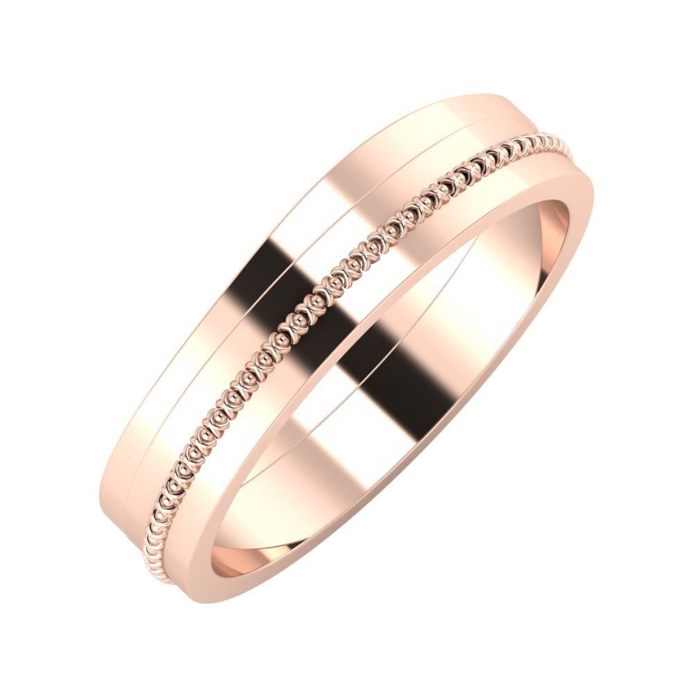 Adria - Afrodita 5mm 18 karátos rosé arany karikagyűrű