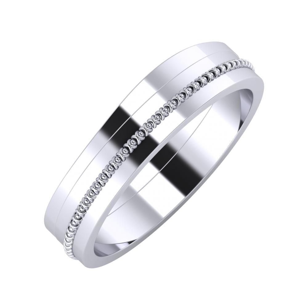 Adria - Afrodita 5mm platina karikagyűrű