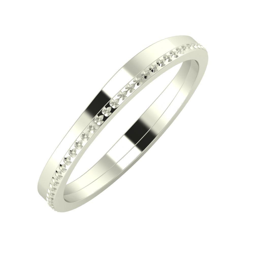 Adria - Ági 3mm 14 karátos fehér arany karikagyűrű