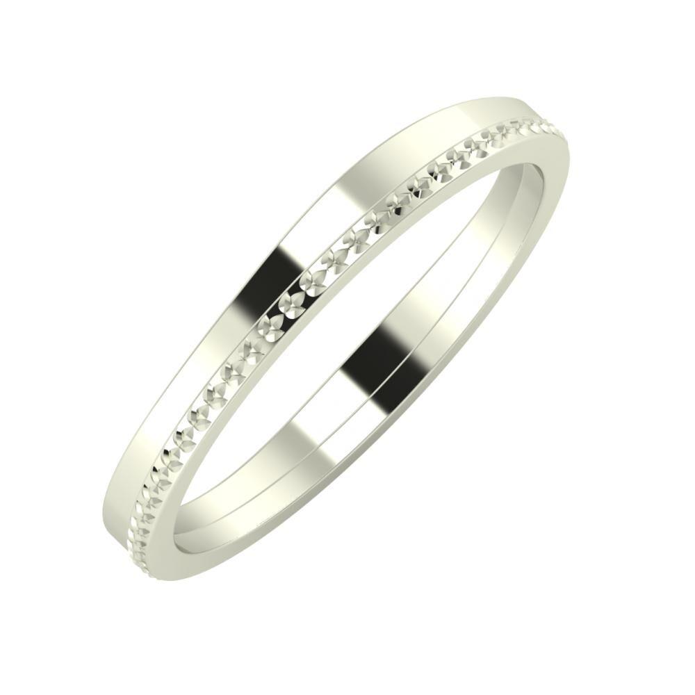 Adria - Ági 3mm 18 karátos fehér arany karikagyűrű
