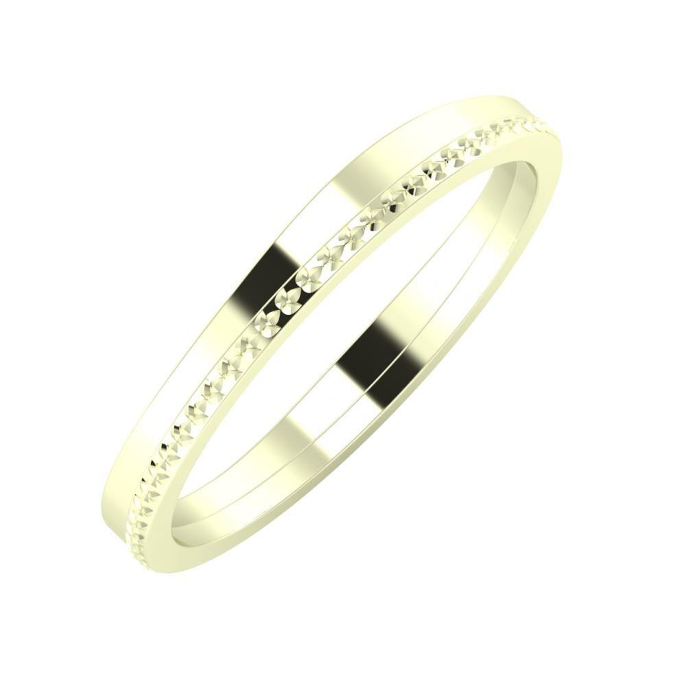 Adria - Ági 3mm 22 karátos fehér arany karikagyűrű