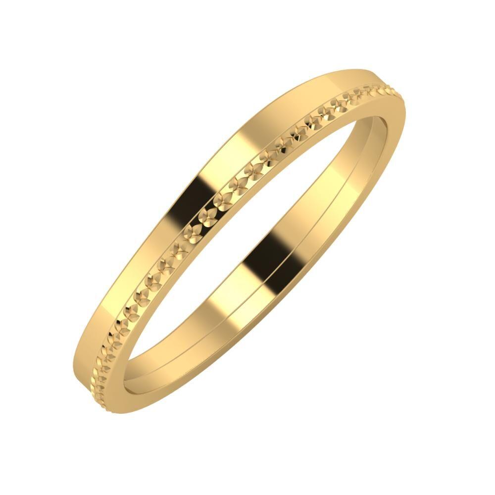 Adria - Ági 3mm 22 karátos sárga arany karikagyűrű