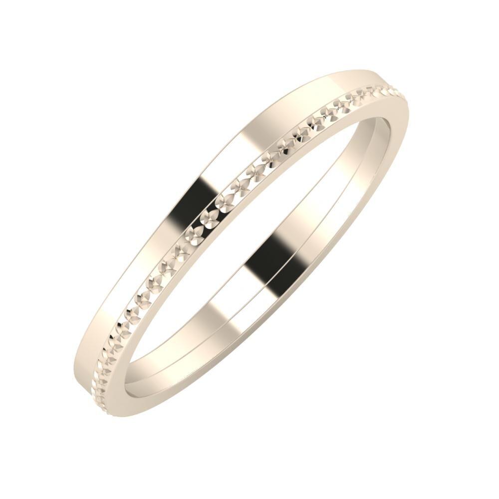 Adria - Ági 3mm 22 karátos rosé arany karikagyűrű