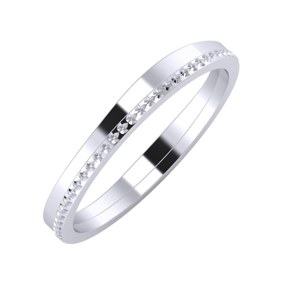 Adria - Ági 3mm platina karikagyűrű