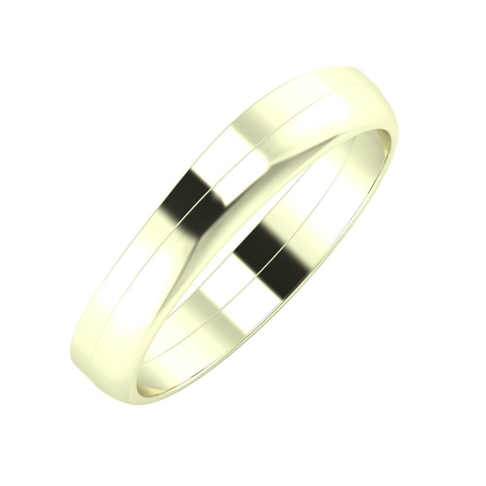 Adria - Ágosta 4mm 22 karátos fehér arany karikagyűrű