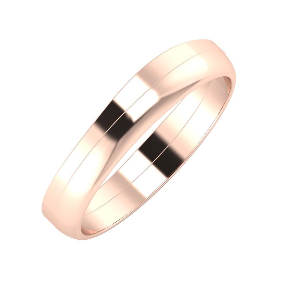 Adria - Ágosta 4mm 14 karátos rosé arany karikagyűrű