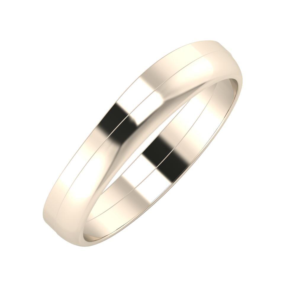 Adria - Ágosta 4mm 22 karátos rosé arany karikagyűrű
