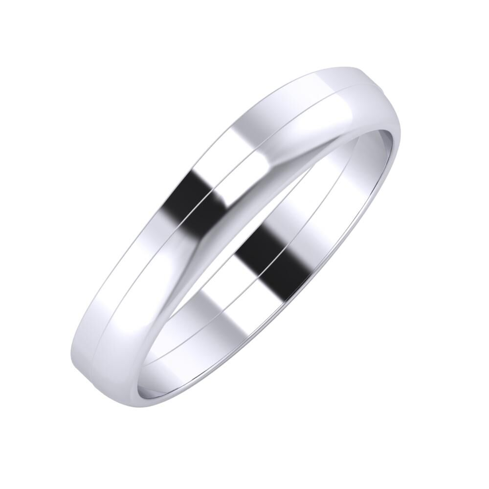 Adria - Ágosta 4mm platina karikagyűrű