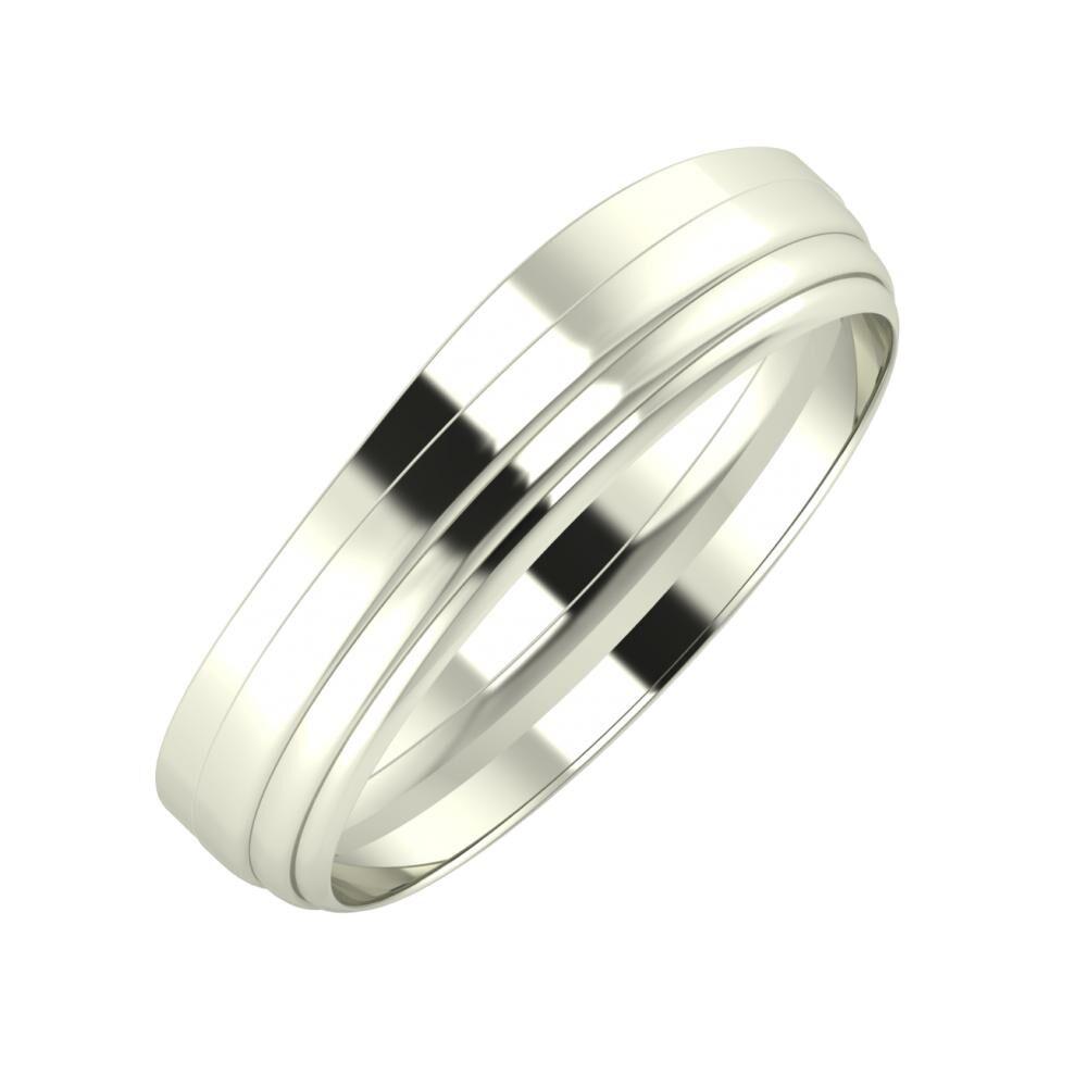 Adria - Aina 5mm 14 karátos fehér arany karikagyűrű