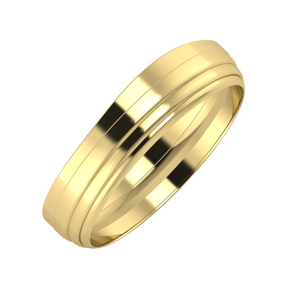 Adria - Aina 5mm 14 karátos sárga arany karikagyűrű