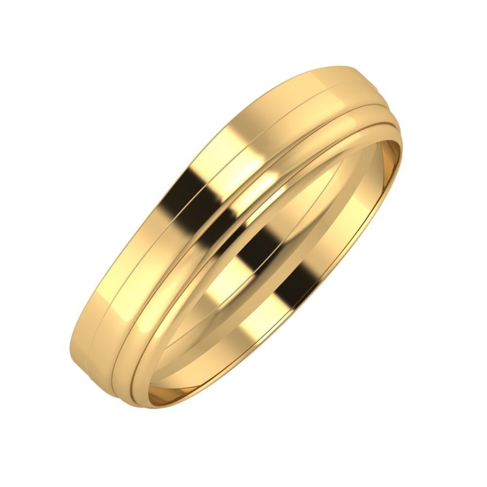 Adria - Aina 5mm 22 karátos sárga arany karikagyűrű