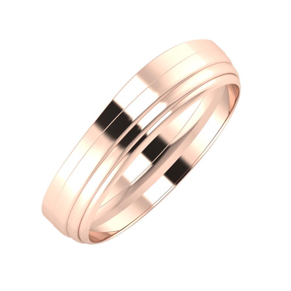 Adria - Aina 5mm 18 karátos rosé arany karikagyűrű