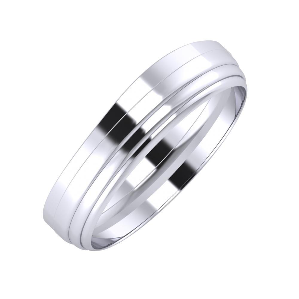 Adria - Aina 5mm platina karikagyűrű